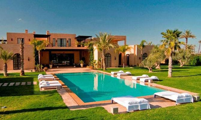 Luxury Moroccan Villa House Design Contemporary Beautiful Outdoor Pool