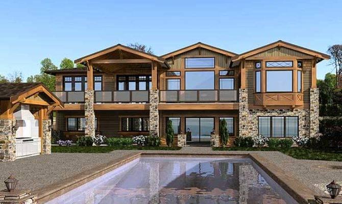 Luxury Mountain Craftsman Home Plans Design Style