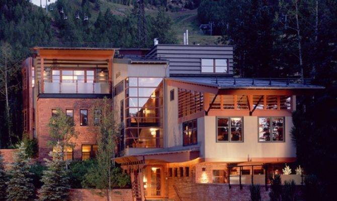 Luxury Mountain Home Flashing Mid Century Modern Day