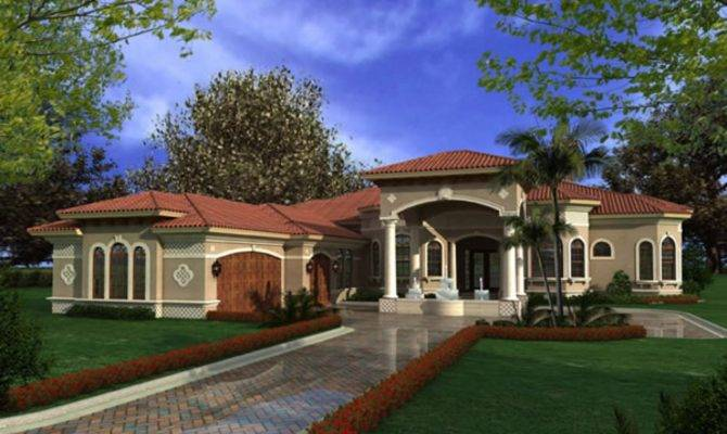 Luxury One Story Mediterranean House Plans