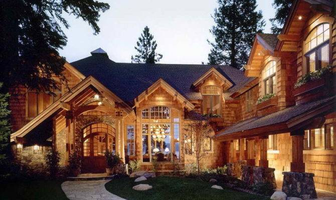 Luxury Rustic Lake House Plan Ideas