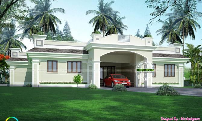 Luxury Single Floor Home Kerala Design Plans