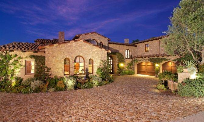 Luxury Tuscan Style House Interior Exterior