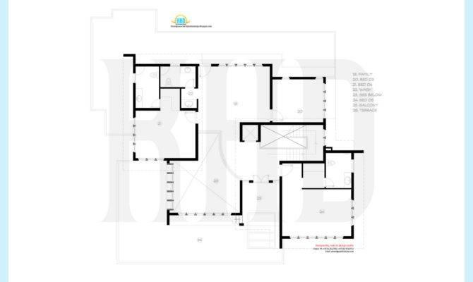 Luxury Villa Floor Plan Kerala Home Design Plans