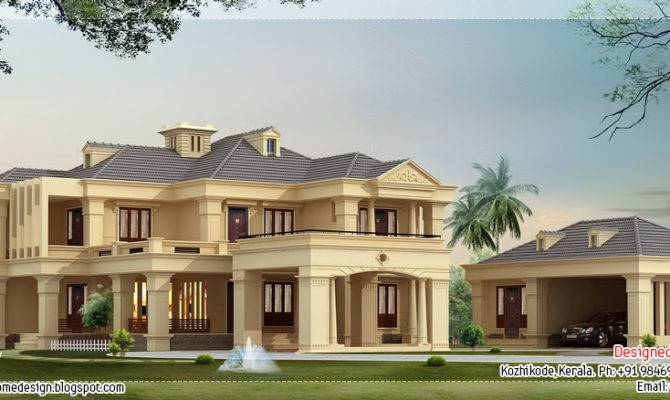 Luxury Villa Square Feet Kerala Home Design