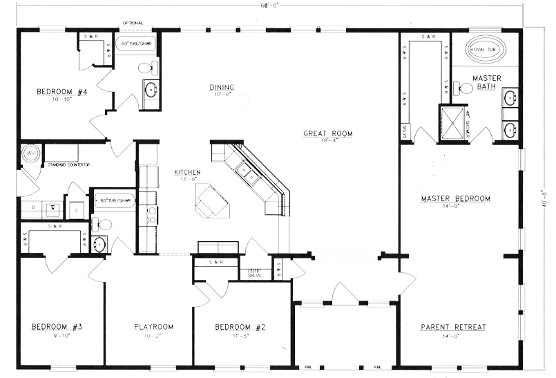 Magnificent Bedroom Metal Home Floor Plans House Plans 56190