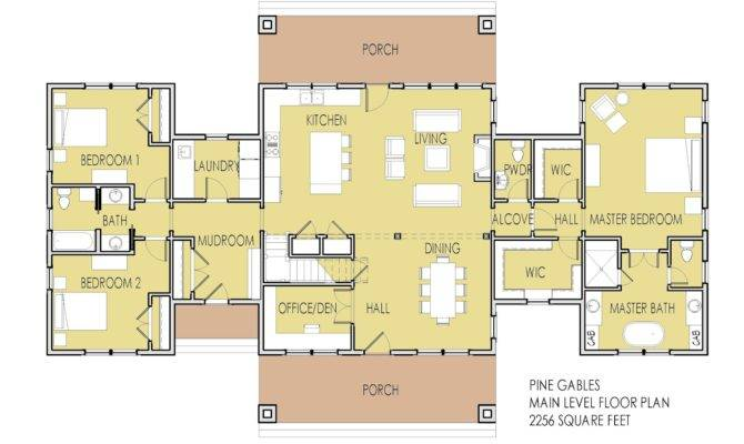 Main Level Floor Plan Features One Living