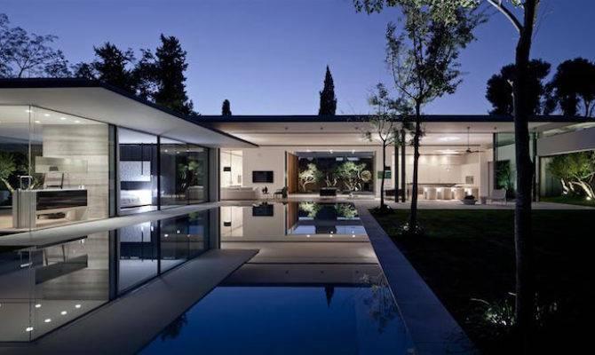 Maison Verre Design Moderne Exemples Venant Des