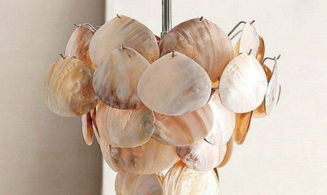 Make Capiz Shell Chandelier Crystal