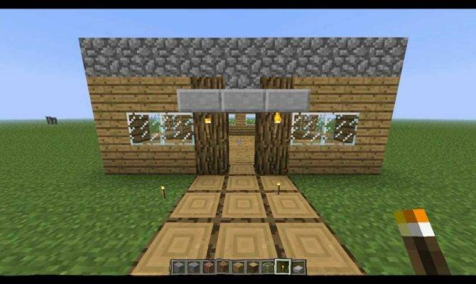 Make Fast Easy House Minecraft Youtube