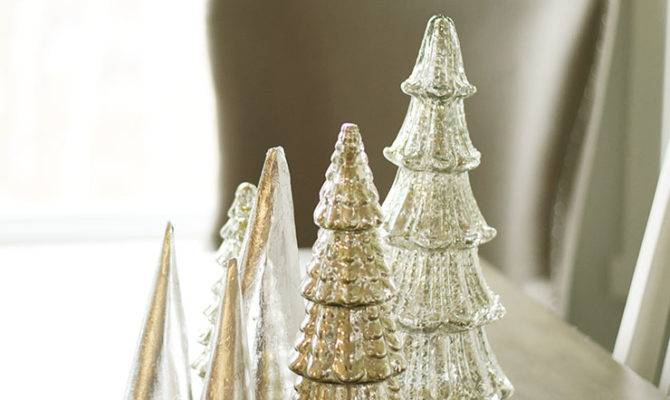 Make Silver Leaf Paper Trees Christmas Tabletop Decor