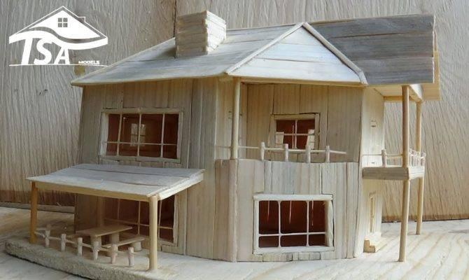 Make Wooden Model House Youtube