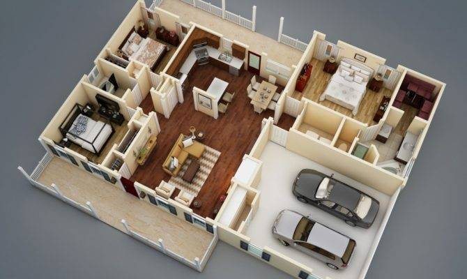 Makes Split Bedroom Floor Plan Ideal House
