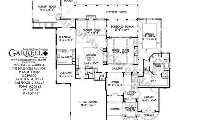 Manor House Plan Floor French Country Plans