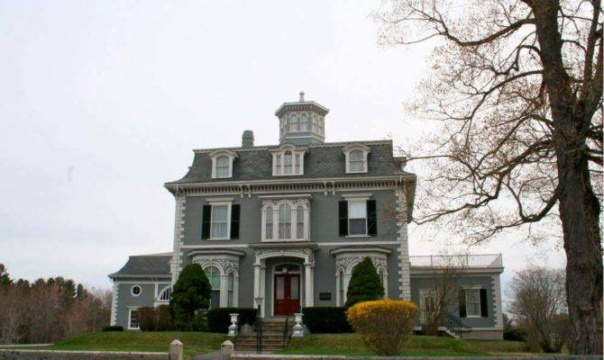 Mansard Roof Colonial House