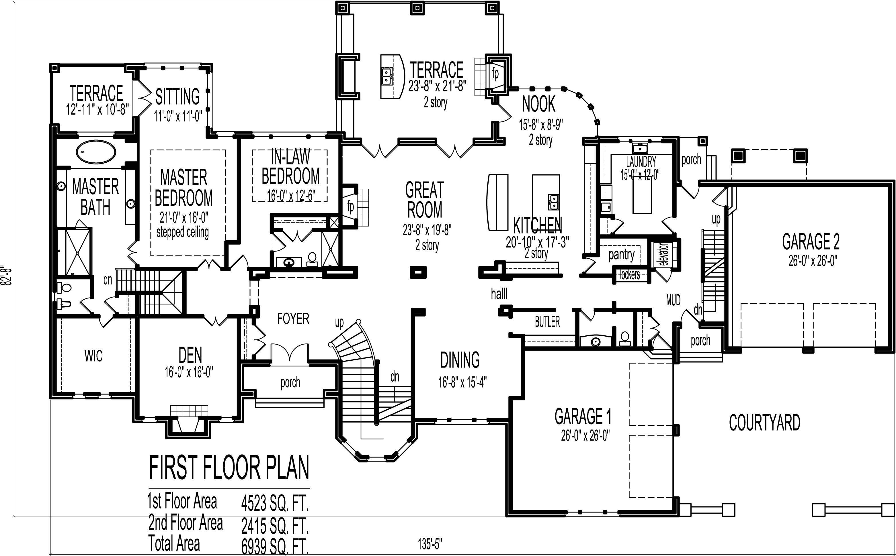 Mansion Blueprints Home Plans Indianapolis House Plans