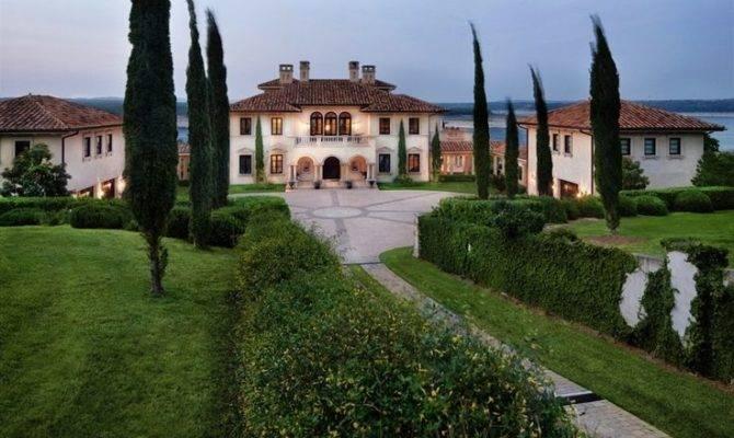Mansion Dream House Traditional Italian Style Austin