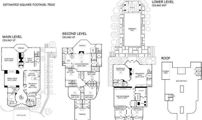 Mansion Floor Plans Home Square Feet