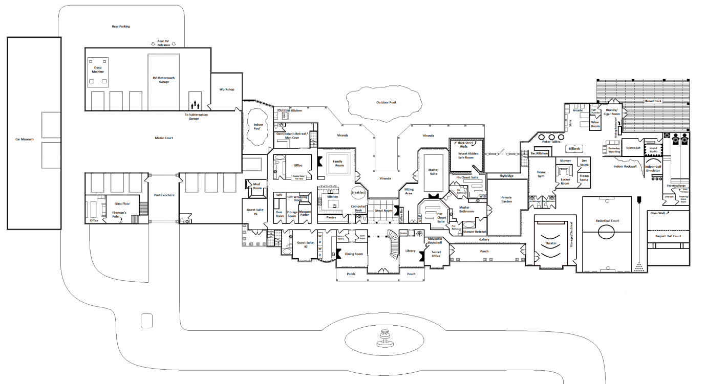 Mansion Floor Plans Luxury House House Plans 61106