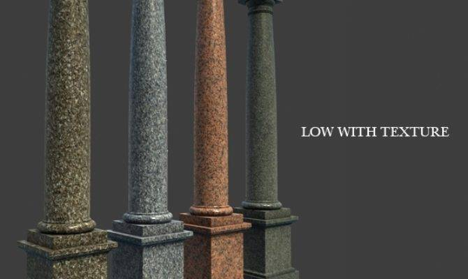 Marble Roman Tuscan Columns Pedestal High Low Polygon