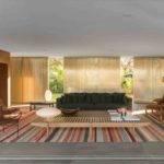 Marcio Kogan Casa Lee Concrete House Open Plan Living Bar