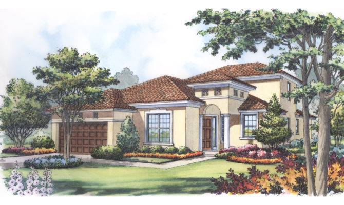 Marco Island Adobe Style Home Plan House Plans More