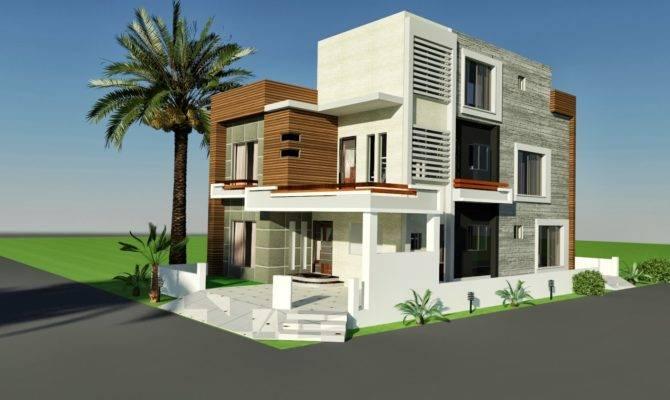Marla Corner House Plan Design Tariq Garden Lahore Home