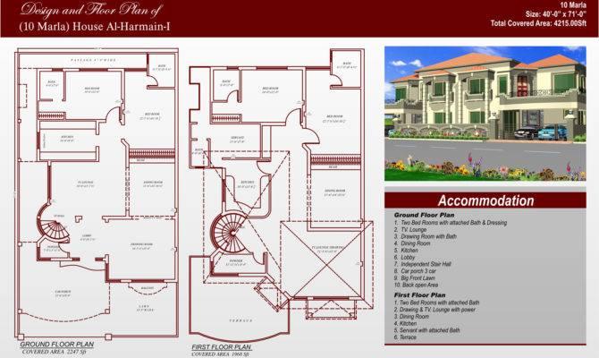 Marla House Map Design Architecture Plans