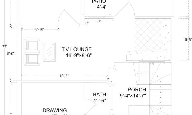 Marla House Plan Map Detail
