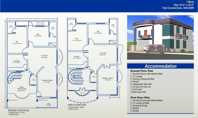 Marla House Plans Civil Engineers