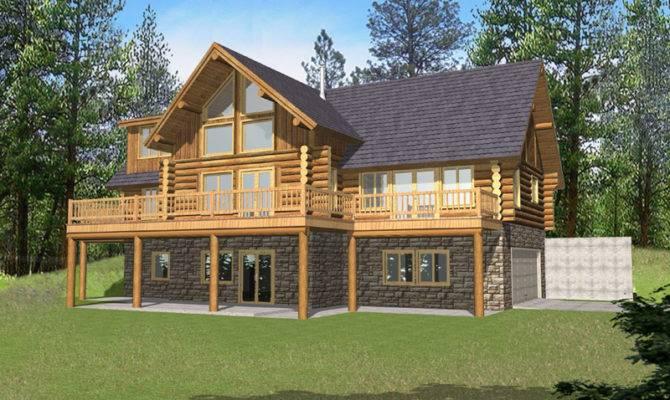 Marvin Peak Log Home Plan House Plans More