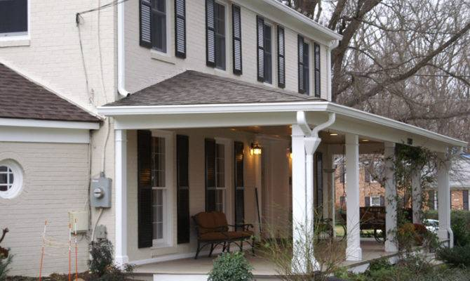 Maryland Colonial House Arched Portico Custom