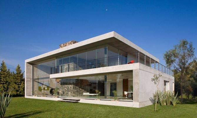 Massive Concrete Glass Residence Mexico House Freshome