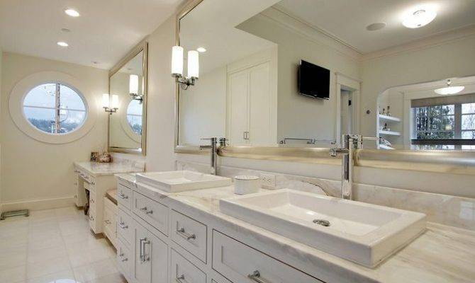 Master Bath New England Style Home Designed Paul Moon Design