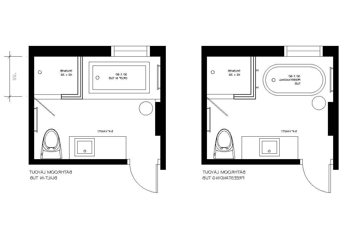Master Bathroom Layout Designs, Small Master Bathroom Floor Plans