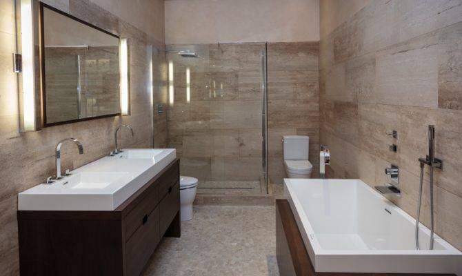 Master Bathroom Shower Designs Rectangular Wall