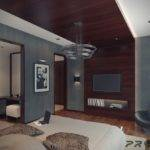 Master Bedroom Boasts Dramatic Rich Wood Spans