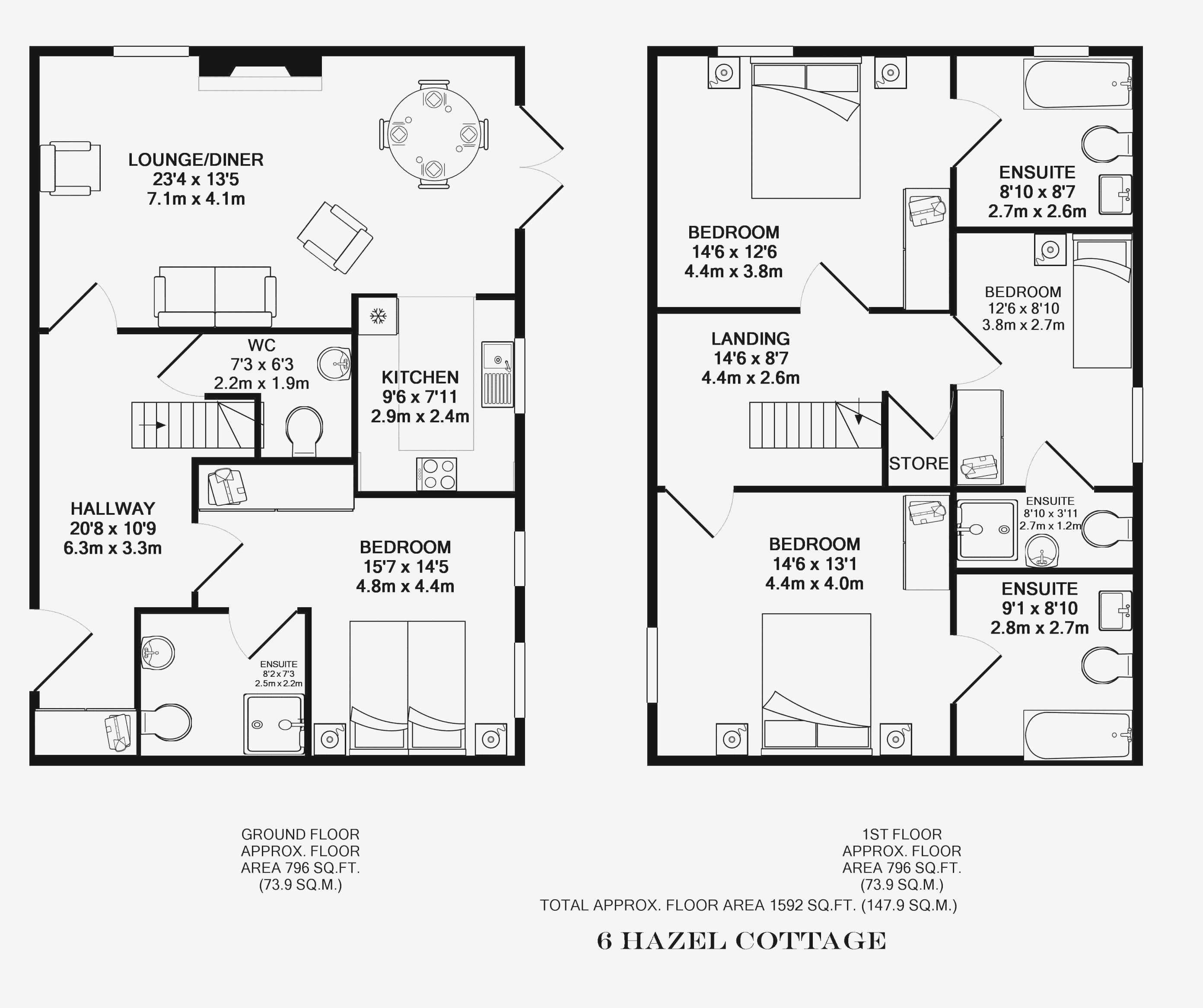 Master Bedroom Ensuite Floor Plans Regarding House - House Plans