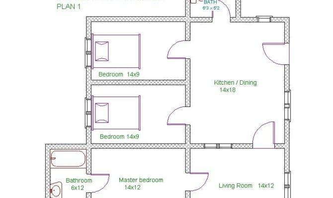 Master Bedroom House Plans Domplans Two Bedrooms