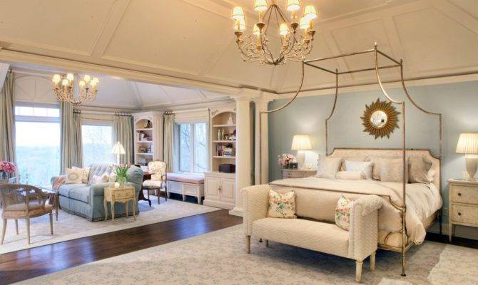 Master Bedroom Sitting Area Traditional Wood