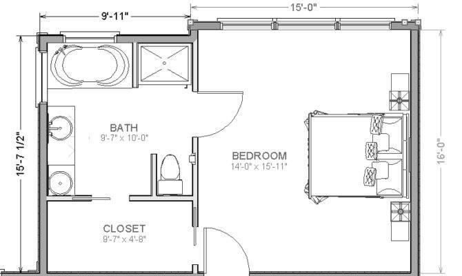 Master Bedroom Suite Addition Floor Plans
