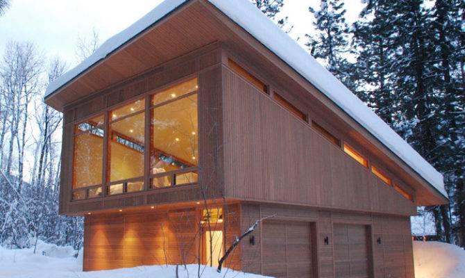Mazama Guest Cabin Modern Garage Seattle Finne