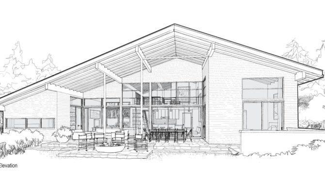 Mcm Design Modern House Plan Renderings