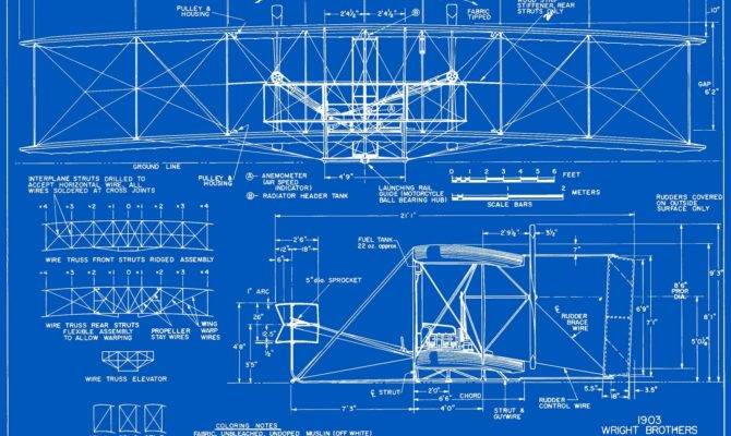 Measured Drawings Wright Flyer Plate Front Side