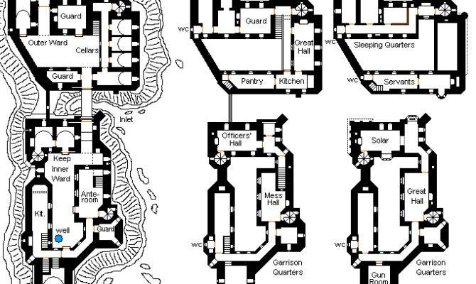 Medieval Castle Floor Plan Lower Plans
