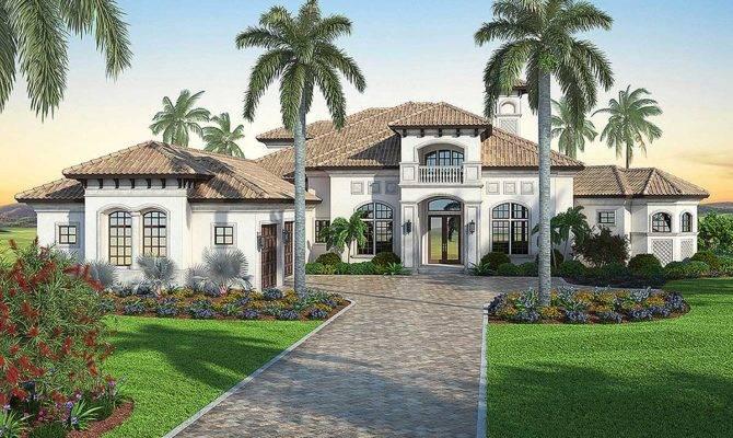 Mediterranean Dream Home Plan Master Suites