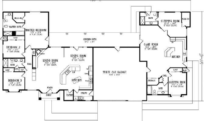 Mediterranean House Plan Bedrooms Bath