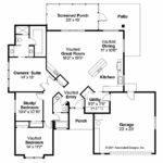 Mediterranean House Plan Calabro Floor