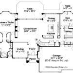 Mediterranean House Plan Corsica Floor
