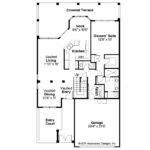 Mediterranean House Plan Cortez Floor